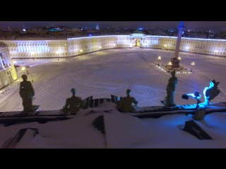 Snowboarding in the heart of St Petersburg
