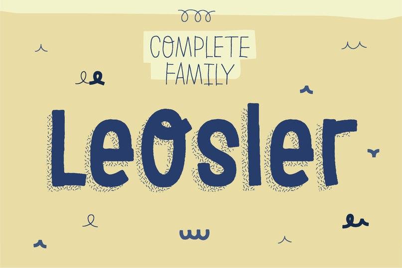 leosler шрифт скачать бесплатно