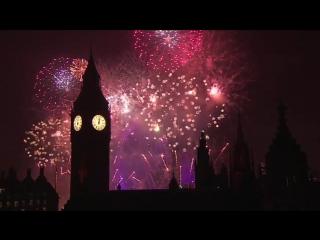Фейерверк шоу в Лондоне на Новый год 2017