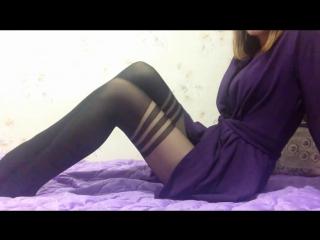 Tights with Imitation stockings, чулочки, трусики, молоденькая шалит в колготках