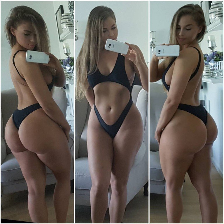 Woman having three breasts