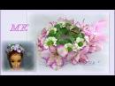 МК Веночек на гульку с альстромерией и хризантемой ромашковой из фома .