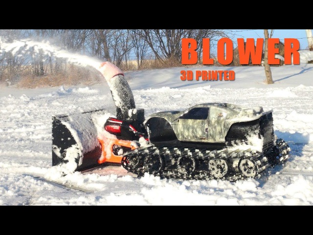 RC ADVENTURES - TRACKED MACHiNE, 3D Printed SNOW Blower!