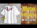 Blusa con Parche Bordado de Flores DIY Costura Facil