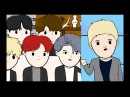 BTS on the Ellen Show, Jimmy Kimmel, and The Late Late Show with James Corden BTS Animation