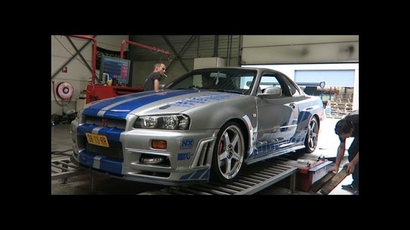 Авто из форсажа Nissan Skyline GT-R загнали на дино тест