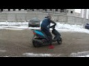 Дрифт по первому снегу на скутере Suzuki ADDRESS 125G