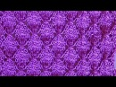 Ажурный узор листочками Вязание спицами Видеоурок 197