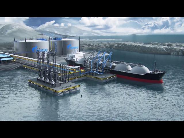 Видеоролик Балтийский СПГ завод по сжижению природного газа Ascreen