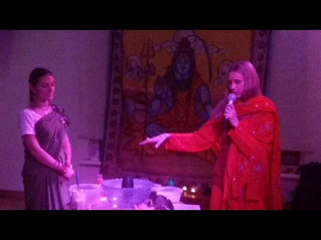 SHIVA PARTY ॐ 13 ноября. ШИВА ЛИНГАМ ПУДЖА. Проводит Радха Ананда Гири. Часть 2.