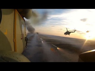 Вертолеты ЮВО уничтожают колонну «вражеской» бронетехники: кадры учений