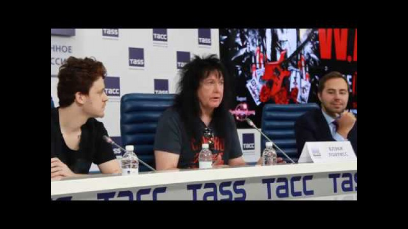 Blackie Lawless - 2017 - W.A.S.P. - Press Conference, Moscow (Interview) - 1
