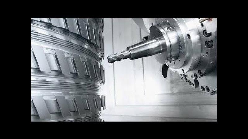 Máquinas incriveis esculpindo metal HIPNÓTICO 8 cnc machine working video