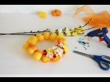 Как сделать самому Поделку своими руками. Весенний Венок из яиц Киндер Сюрприз. K...
