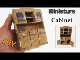 How To Make a Beautiful Miniature Cabinet look like Realistic - dollhouse - miniature crafts