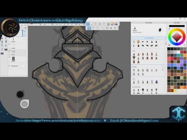 TESR_Skywind - Dwemer Weapons Concept Art Stream 9/12/17