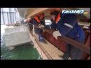 Керченский мост строители соединили автодорожными пролетами косу и остров Тузла
