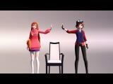 MMD Dipper and Mabel - Danganronpa Motion DL