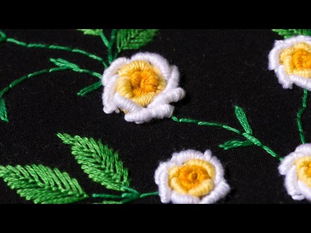 Embroidery designs by hand DIY Stitching Tutorial | HandiWorks 107