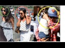 Shahrukh Khan saving Abram Suhana and Gauri from Huge Crowd at Gateway of India back from wed aniv