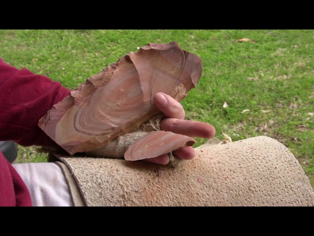 MegaBopping Buffalo River Slab - Flint Knapping
