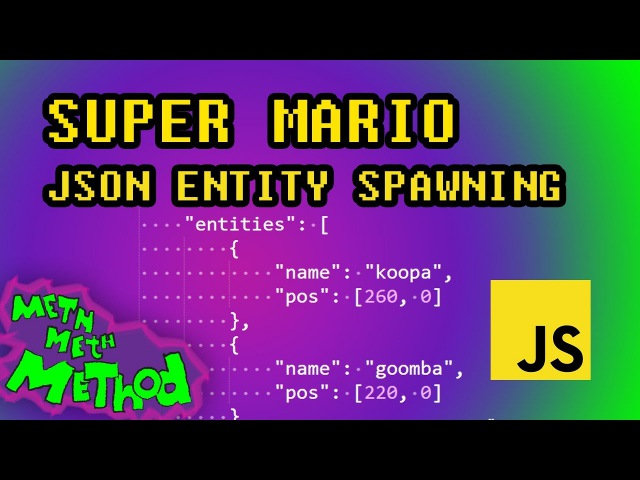 Code Super Mario in JS (Ep 11) - JSON Entity Spawning