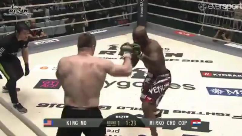 Мирко Кро Коп против Кинг Мо на недавнем турнире Ризин