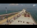 Керченскій мостъ съ высоты отъ Тамани до Керчи 28 іюля 10 августа 2016
