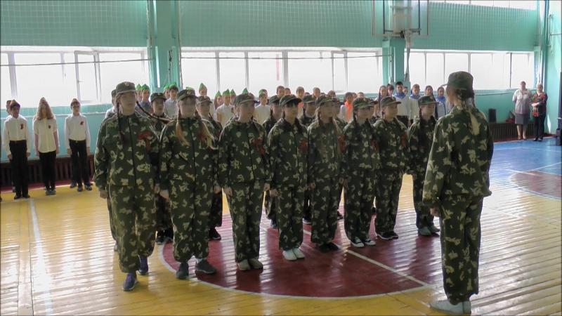 Строевой смотр к 9 мая 2016г. 7а класс школа №3 г. Нягань