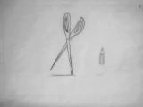 Ножнички и карандашь