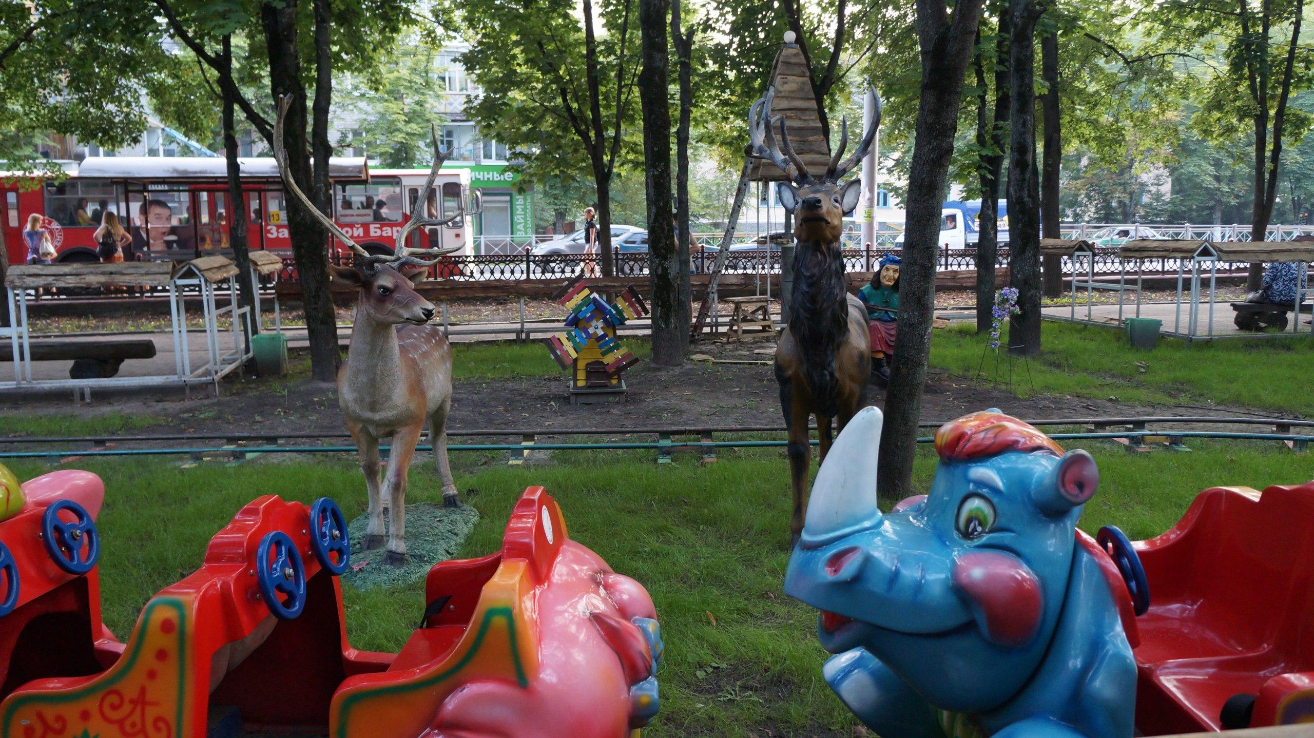 Развели в публичном парке