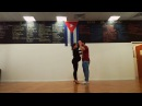 Casino Cubano - Salsa Cubana. 40 weeks pregnant dancing salsa with her husbend.