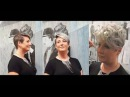 Short pixie haircut, granny / grey hair, undercut hairstyle, 2017 makevover by Alves Bechtholdt