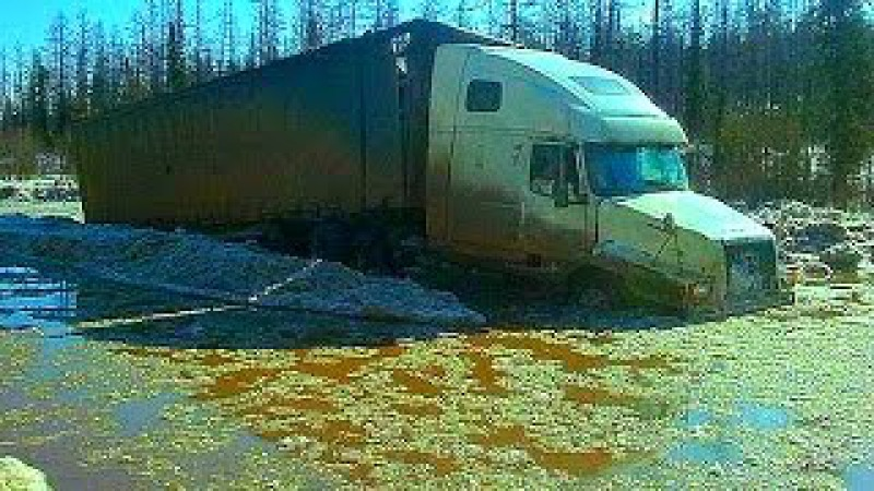 Американские Грузовики Дороги севера ✅ Российские грузовики Зимник American truck North of Russia