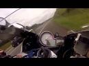 Wyścig na autostradzie motocykle BMW S1000RR vs HONDA CBR1000