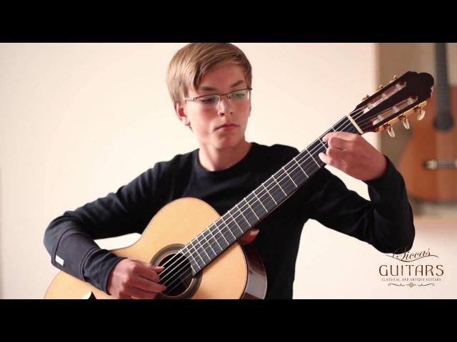 Niklas Junker (13) plays Fingals-Höhle by Johann Kaspar Mertz on a 2005 José Marin Plazuelo
