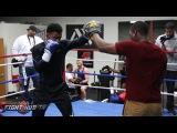 Golovkin vs. Jacobs- Daniel Jacobs' FULL Media Workout Video