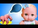 Играем в доктора КЛИЗМА Play doctor Куклы пупсики Видео для девочек KIDS Games Дочки матери СПТВ