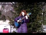 Рига. Рождественские ярмарки. Девушка с прекрасным голосом  Riga, Latvia, Christmas fairs #1