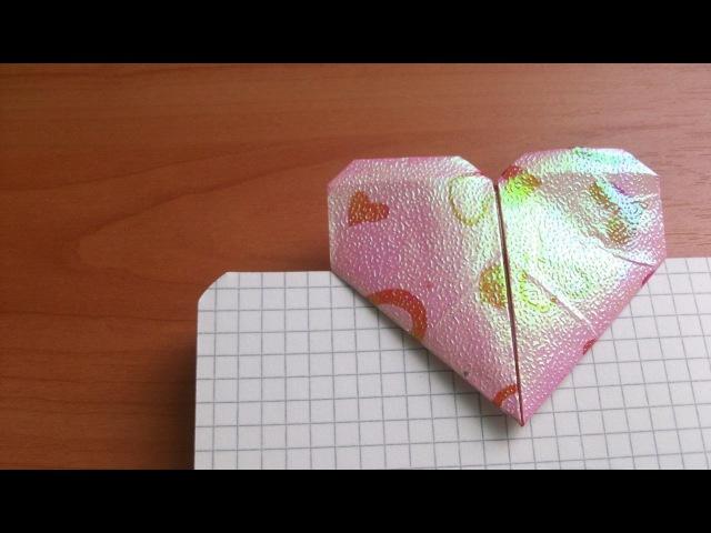Как Сделать по Одной Схеме 2 Сердечка Закладку и Застежку из Бумаги Своими Руками