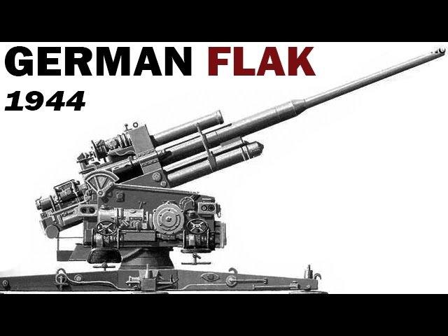German Anti-Aircraft Gun System | Flak | US Air Force Training Film | 1944