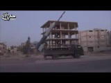 FSA launches hand-made scud missile (Omar) at Iranian operations room in Daraa