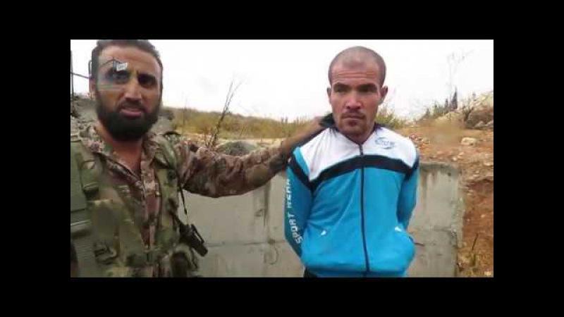 جيش المجاهدين-اللحظات الاولى من داخل حاجز الصورة بعد تحريره من قبل ابطال جيش المجاهدين وأسر عنصر