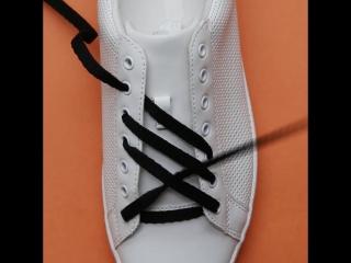 3 необычных способа завязывать шнурки