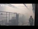 Пожар на Кировском заводе в Петербурге