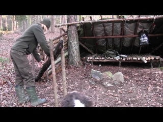 Building A Super Shelter In The Woods