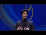 Darren Criss presents Distinguished Artisan Award to Ryan Murphy at the 2017 MUAHS Awards