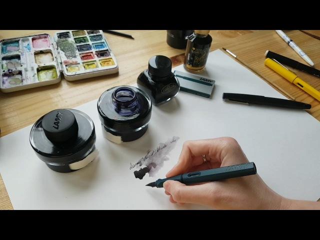 Обзор чернил для перьевых ручек от Anastasia Nesmelova. Lamy, Carbon Ink, Diamine