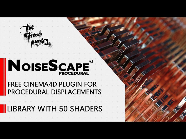 NoiseScape Free Cinema4D Plugin for Procedural Displacements - Overview