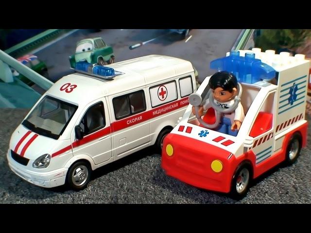 Тачки Мультачки Байки Мэтра - Мэтр Команда Спасения 3 Серия. Скорая Помощь и Маквин Спешат на Помощь